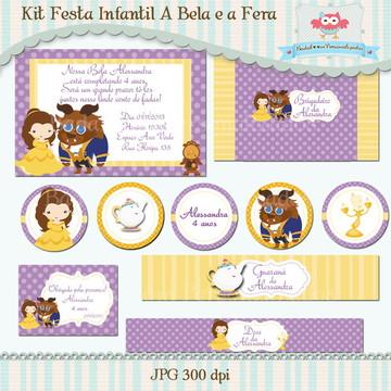 Kit Festa A Bela e a Fera (arte)