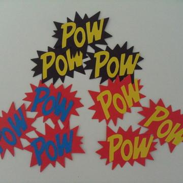 Tag Super Herói - Pow