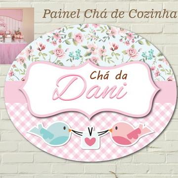 Chá Painel Placa PASSARINHOS impressa