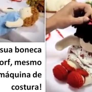 Kit EduK costurado Boneca Waldorf