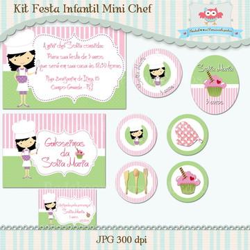 Kit Festa Infantil Mini Chef (arte)