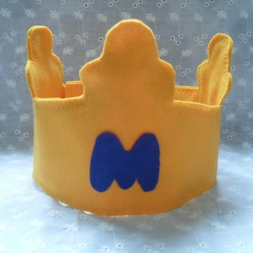 Coroa Feltro Príncipe Inicial ou Idade