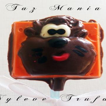 Pirulito De Chocolate Taz Mania