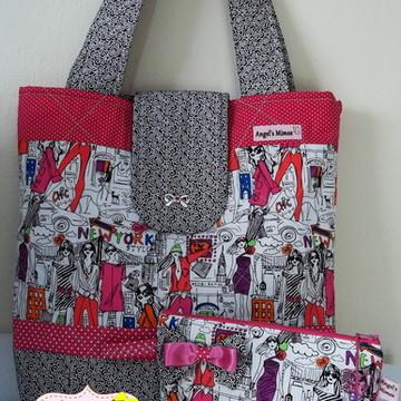 Bolsa + necessaire Fashion