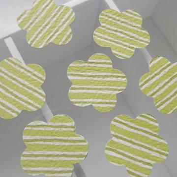 Kit C/ 100 Aplique Flor Verde lista