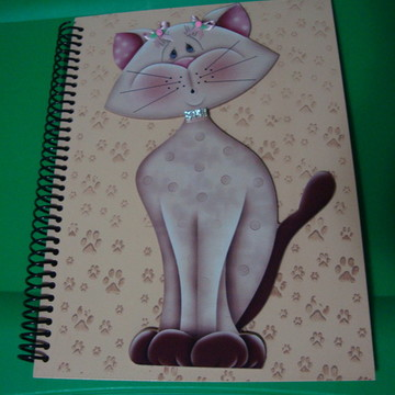 Caderno universitario de gatatinha