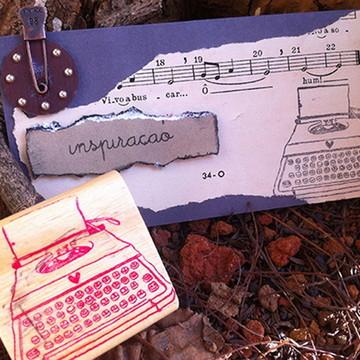 Carimbo máquina de escrever - base EVA