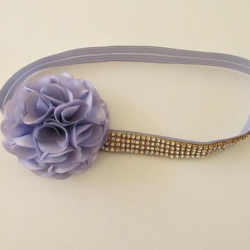 faixa para criança head band tiara flor elastico
