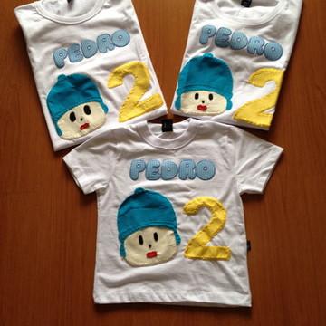 Camiseta Pocoyo (kit família)