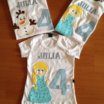Camiseta Frozen (Kit familia)