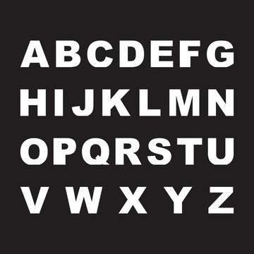 Letras em MDF - Mod. 01 - Pintadas