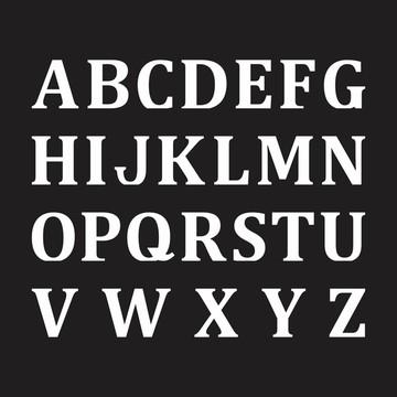 Letras em MDF - Mod. 05 - Pintadas