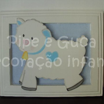 (DO 0010) Quadro decorativo carneirinho