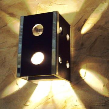 arandela luminária de parede espelhada