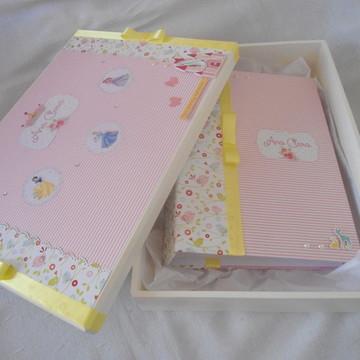 Kit Caixa E Álbum De Fotos - Princesas