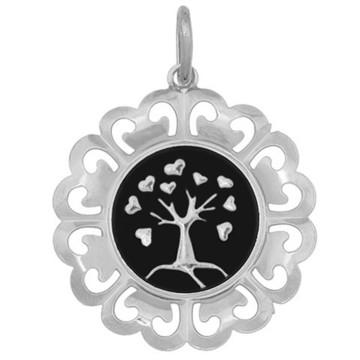 Pingente Árvore da Vida Folheada a Prata