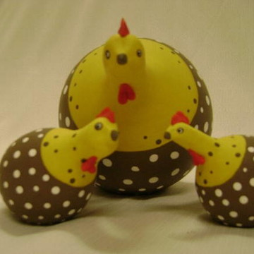Trio de galinhas