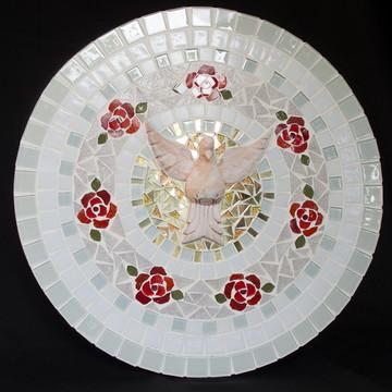 Mandala Divino Espírito Santo com rosas