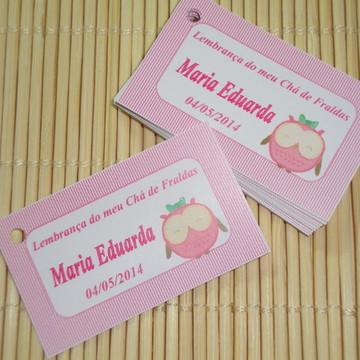 Tags Lembrancinhas Chá de Bebê Corujinha