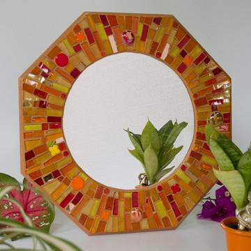 """Espelho em mosaico """"Raios de Sol"""""""