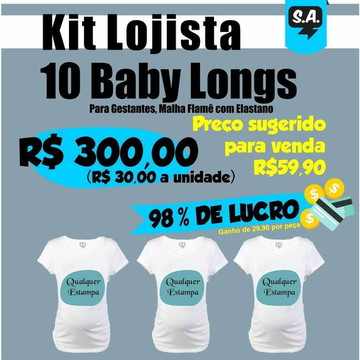 Kit lojista 10 Babylongs para Gestantes