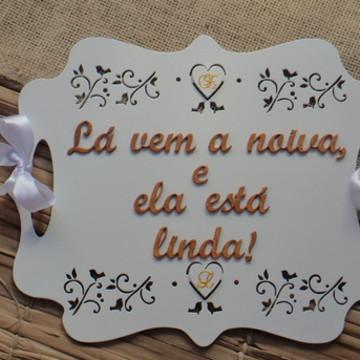 PLACA CASAMENTO DE MÃO FRENTE E VERSO