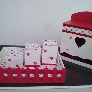 Kit Higiene Bebê Mdf - Joaninha
