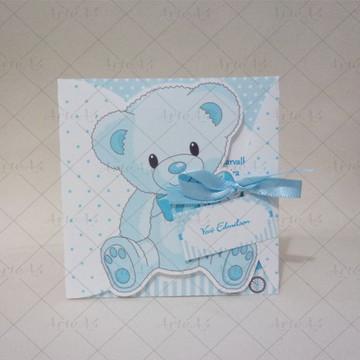 Convite Infantil Mini Ursinho