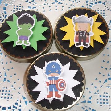 Latinhas Personalizadas Super Heróis