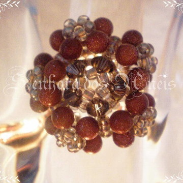 Anel Multiflores Pedra do Sol