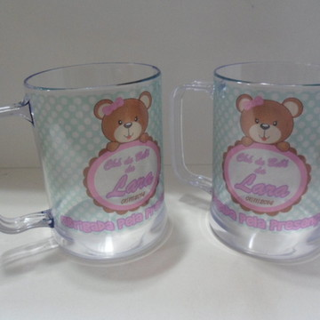 Caneca Chá de Bebê (menina-verde água)