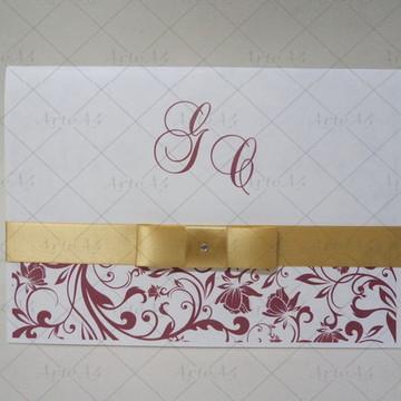 Convite De Casamento 1 Dobra