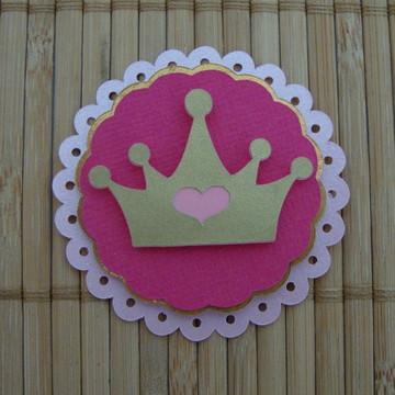 Aplique Rosa / Coroa