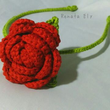 Arco de Cabelo - Rosa vermelha
