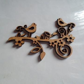 Arabesco de passarinho 8 cm comp 01-106