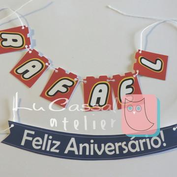 Mini Bandeirola + FELIZ ANIVERSÁRIO