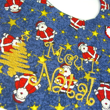 Babador Meu Primeiro Natal Azul