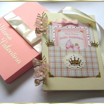 Álbum Bebê Scrapbook Princesa