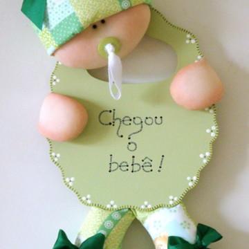 Enfeite porta maternidade menina/menino