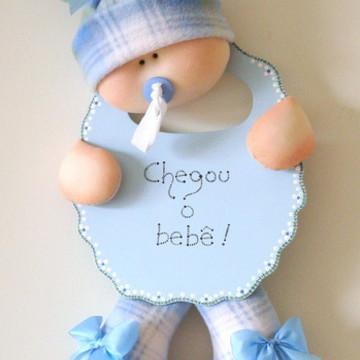 Enfeite porta maternidade menino