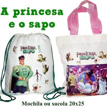 Princesa e o Sapo Mochila brinde