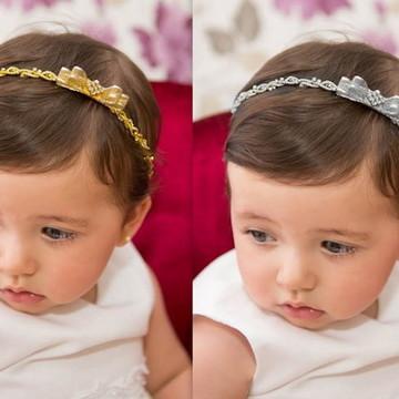 Kit: tiara prata & dourado