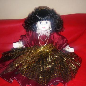 Boneca de porcelana Cigana