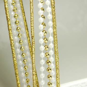 Tiara de pérolas & dourado + pulseira