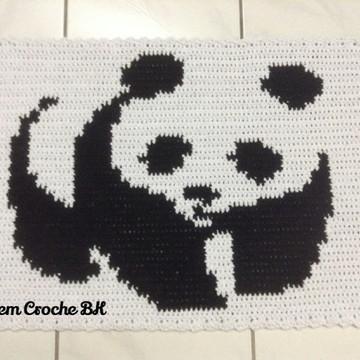 Tapete Croche Ursinho Panda