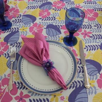 Toalha de mesa retangular Floresta Pink