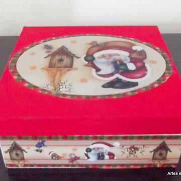 Embalagem em MDF para presente de Natal