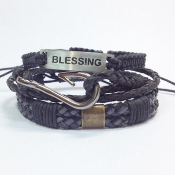 Kit pulseiras masculinas Blessing