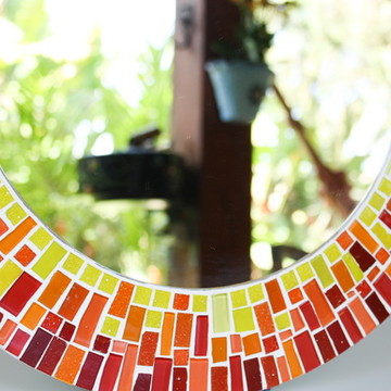 Espelho em mosaico Verão