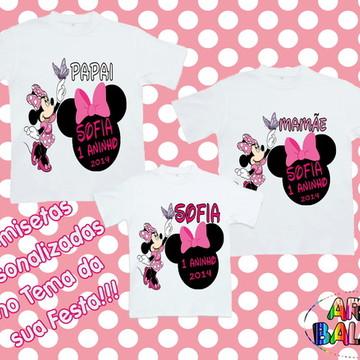 Camisetas Personalizadas Minnie Rosa